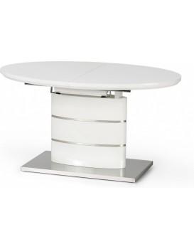Oválný jídelní stůl Lelia II 140-180x90 cm bílý