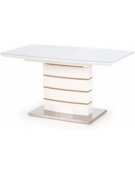 Jídelní stůl Lupe 140-180x80 cm bílý