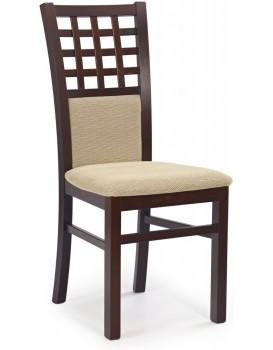 Jídelní židle Gernia tmavý ořech/béžová