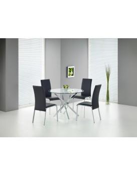 Kulatý jídelní stůl Remond sklo/chrom