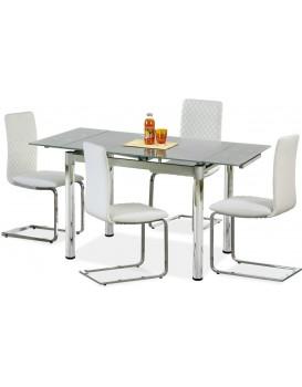Rozkládací jídelní stůl Logan šedý
