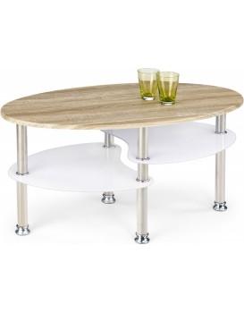 Konferenční stolek Matea dub sonoma/extra bílá