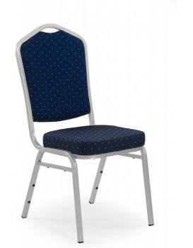 Židle Kasa stříbrná/modrá