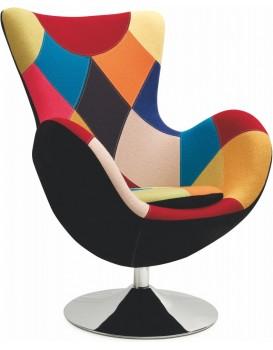 Relaxační křeslo Farfalla patchwork
