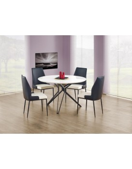 Kulatý jídelní stůl Unit bílý