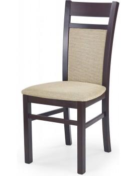 Jídelní židle Genrad tmavý ořech/béžová