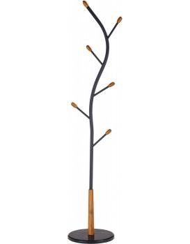 Věšák na oblečení Adrien černý/dřevo