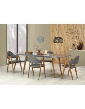 Rozkládací jídelní stůl Ruben šedý/dub medový