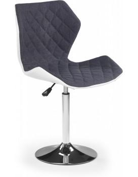 Barová židle Dorie šedá/bílá