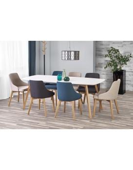 Rozkládací jídelní stůl Kajetan 150/200 bílý/dub medový