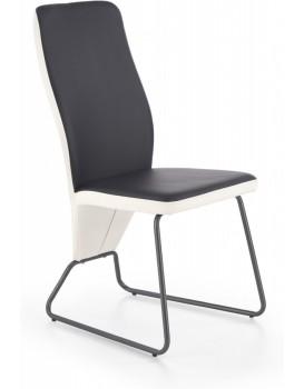 Jídelní židle Navia bílá/černá/super šedá