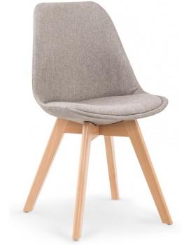 Jídelní židle Leena světle šedá/buk