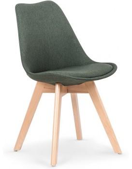 Jídelní židle Leena tmavě zelená/buk