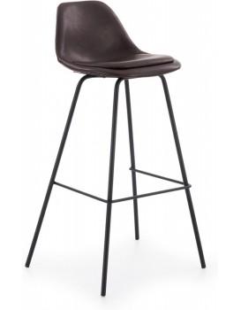 Barová židle Ivy8 tmavě hnědá