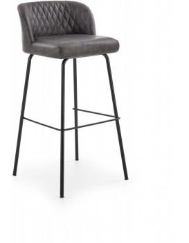 Barová židle Theo tmavě šedá