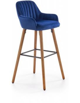 Barová židle Naty tmavě modrá