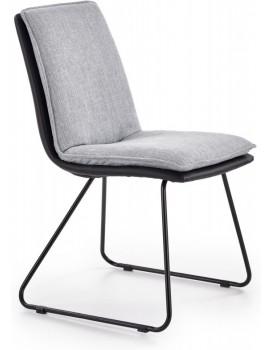 Jídelní židle Tamara světle šedá/černá