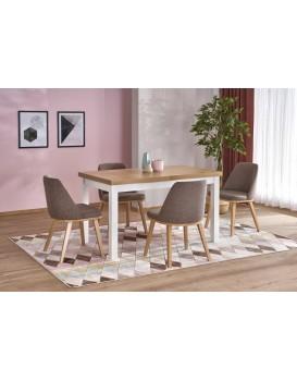 Rozkládací jídelní stůl Tiaro dub riviera/bílá