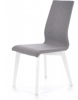 Jídelní židle Fork bílá/šedá
