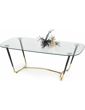 Konferenční stolek Daria černý/zlatá