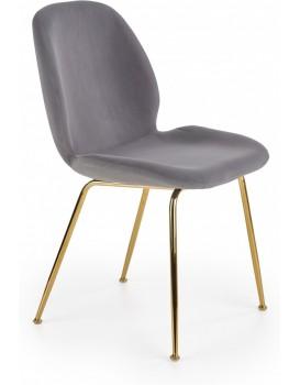Jídelní židle Tanya šedá/zlatá
