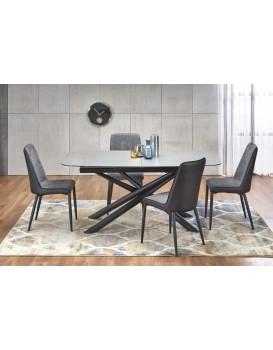 Rozkládací jídelní stůl Capello tmavě šedý/černý