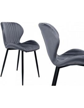 Židle Dallas Velvet šedá