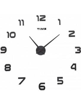 Nástěnné hodiny DIY NEPRI  65 - 130 cm - černé 3D