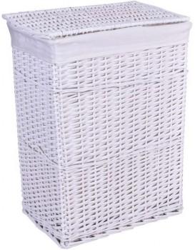 Proutěný koš na prádlo - bílý 72 L