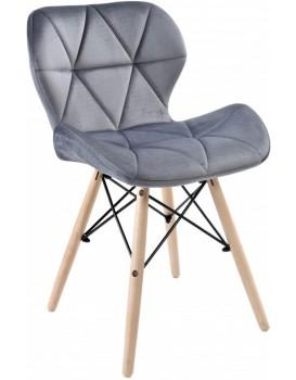 Čalouněná židle MURET VELVET - šedá