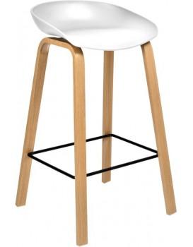 Barová židle Hoker ROCCO bílá