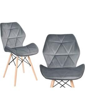 Čalouněná židle RENNES VELVET - grafitová