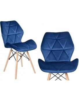 Čalouněná židle RENNES VELVET - námořnická modř