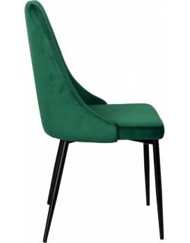 Čalouněná židle LINCOLN tmavě zelená