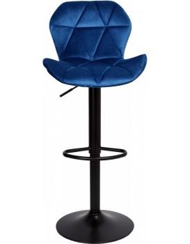 Barová židle Hoker GORDON VELVET námořnická modř
