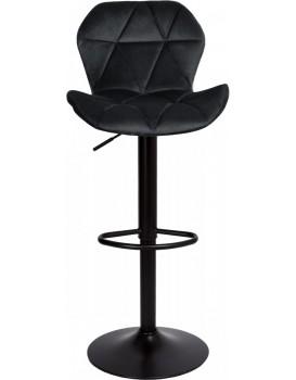 Barová židle Hoker GORDON VELVET černá