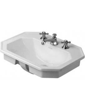 Keramické umyvadlo zápustné DURAVIT 58x47 cm bílé 04765800001