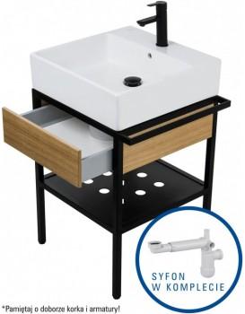 Koupelnová skříňka s umyvadlem Deante TEMISTO 60 x 50 cm + sifon