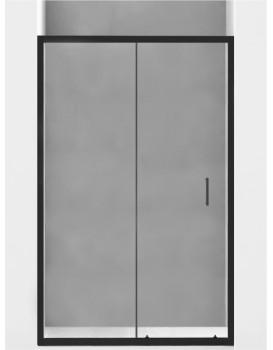 Sprchové dveře MEXEN Apia 140 cm černé