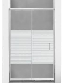 Sprchové dveře MEXEN Apia 95 cm stříbrno-bílé