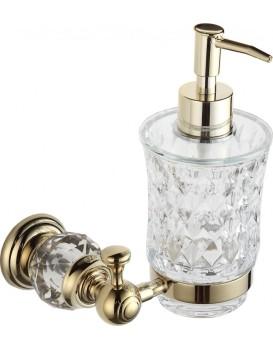 Dávkovač na mýdlo s úchytem MEXEN ESTELA zlatý