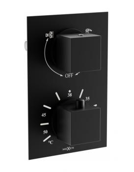 Termostatická podomítková baterie MEXEN CUBE vanovo - sprchová I černá