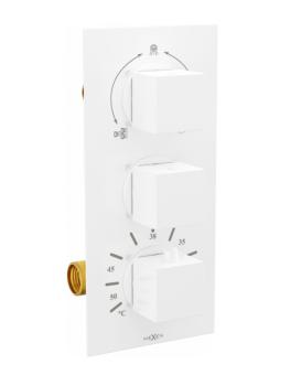 Termostatická podomítková baterie MEXEN CUBE I vanovo - sprchová bílá