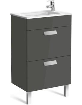 Umyvadlová skříňka s umyvadlem ROCA DEBBA 50 cm - šedý antracit