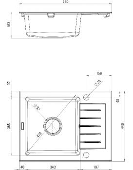 Kuchyňský dřez DEANTE ZORBA -  ZQZ 211A