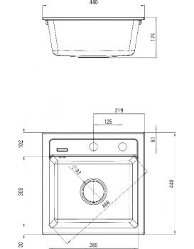 Kuchyňský dřez DEANTE ZORBA -  ZQZ 2103