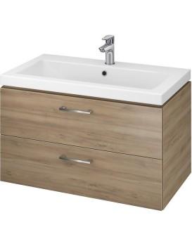 Umyvadlová skříňka s umyvadlem CERSANIT  - LARA COMO 80  ořech
