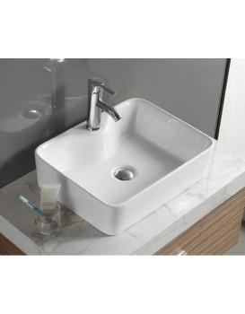 Keramické umyvadlo na desku MEXEN EVA 49x38 cm bílé