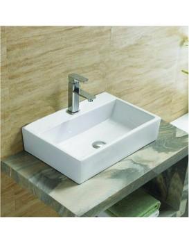 Keramické umyvadlo na desku MEXEN PAULA  53x36 cm bílé