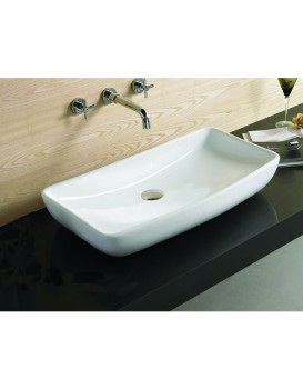 Keramické umyvadlo na desku MEXEN MOIRA  60x39 cm bílé